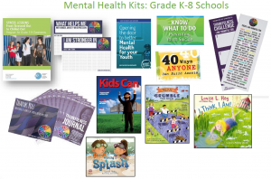 Sample of mental health kits grades K-8.